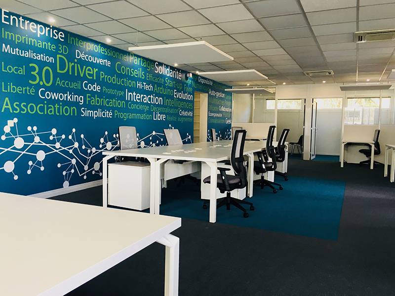 Bureaux, Open Space espace de travail partagé
